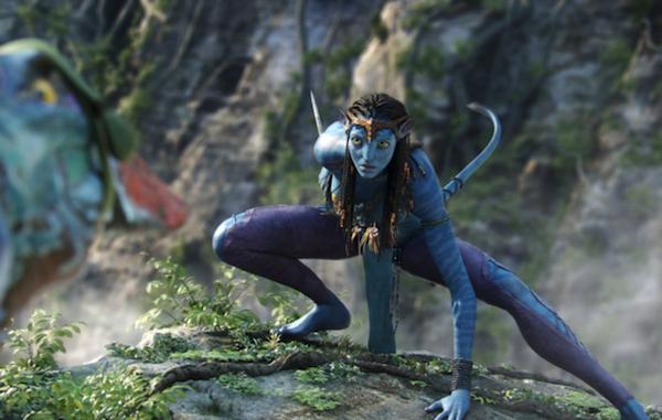 Zoe Saldana em cena de 'Avatar' (2009) (Foto: Reprodução)