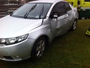 Horas depois do acidente, motorista se entregou e foi preso (Foto: Divulgação/PRF)