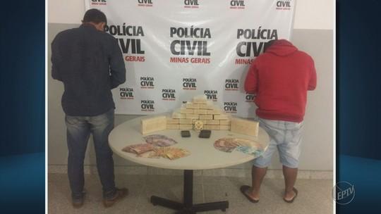 Polícia apreende 82 tabletes de maconha e cocaína no Sul de Minas