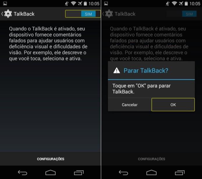 Desativando o taklback do Android (Foto: Reprodução/Helito Bijora)