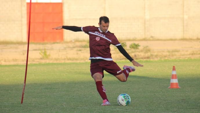 América-RN - Luiz Eduardo, atacante (Foto: Canindé Pereira/Divulgação)