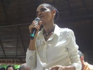 "Marina Silva condenou campanhas ""vale tudo"" (Foto: Luana Laboissiere / G1)"