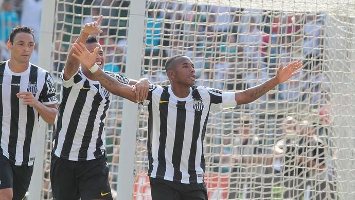 Santos x Portuguesa - gol Robinho (Foto: Reginaldo Castro/ Agência Estado)