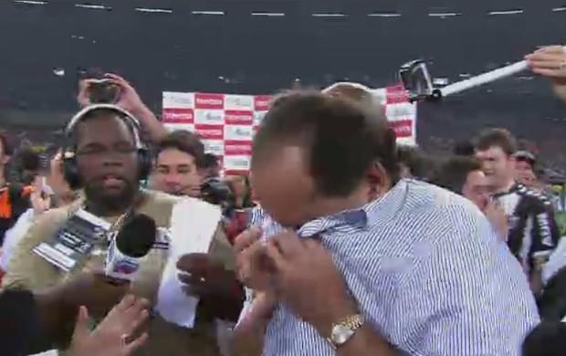 Alexandre Kalil emocionado com título do Atlético - 1 (Foto: Reprodução SporTV)