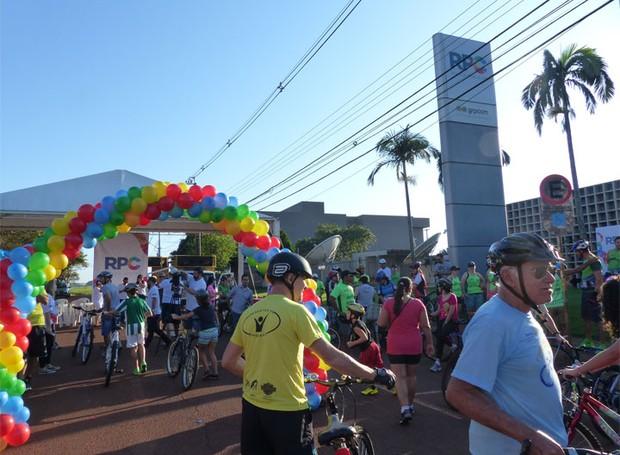 Passeio Ciclístico Bem Verão Foz do Iguaçu (Foto: Divulgação/RPC)