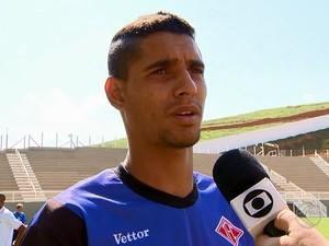 Daniel Amorim atacante Tombense 2014 (Foto: Reprodução/TV Integração)