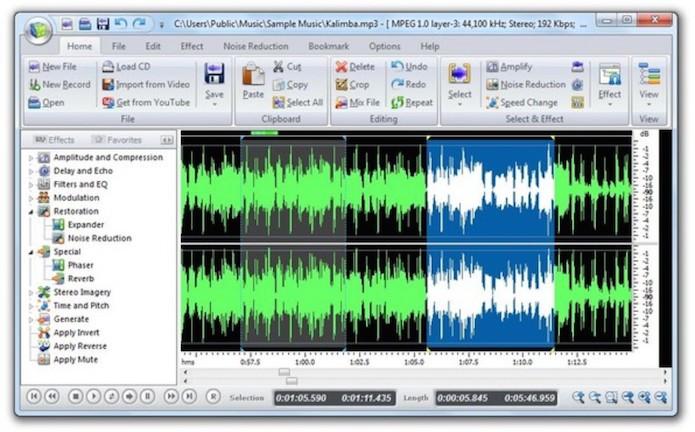 O Power Sound Editor Free é uma ferramenta prática para edição de áudio no PC (Foto: Reprodução)