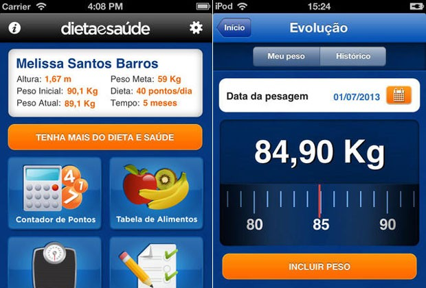 aplicativos_dietaesaude (Foto: Divulgação)