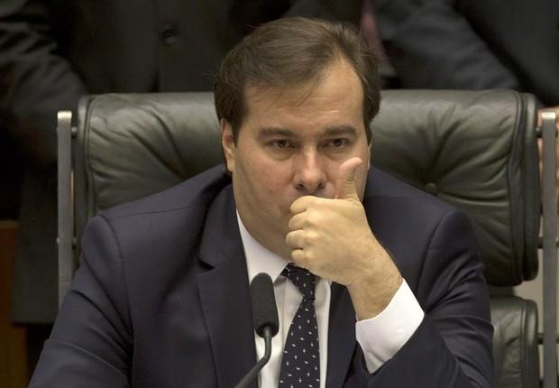 O presidente da Câmara dos Deputados, Rodrigo Maia (DEM-RJ) (Foto: Joédson Alves/EFE)