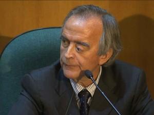 Nestor Cerveró presta depoimento em processo que pede a cassação da chapa Dilma-Temer/GNews (Foto: Reprodução GloboNews)