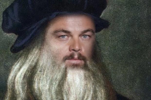 Leonardo DiCaprio como Leonardo da Vinci (Foto: reprodução )