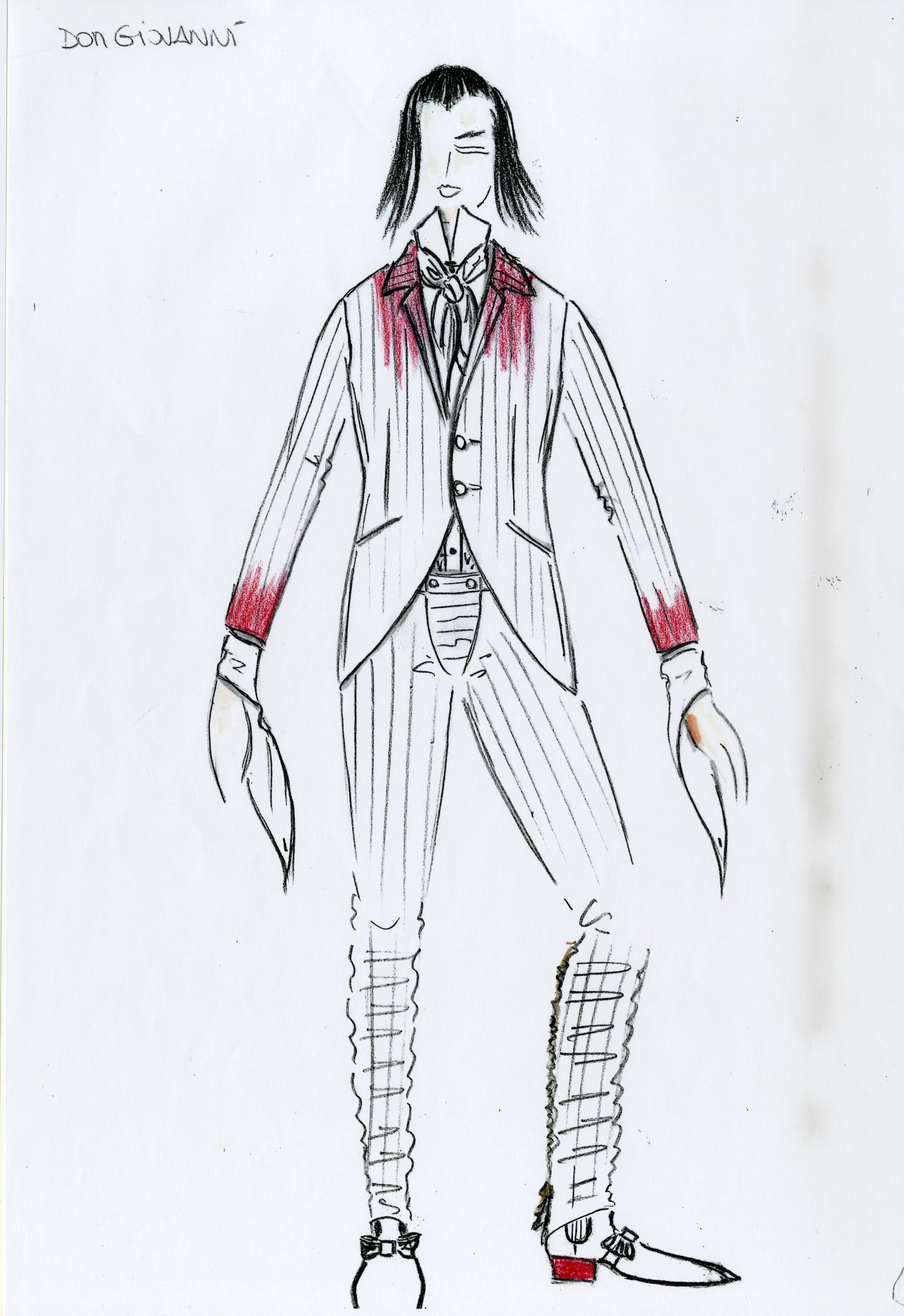 Romeo Gigli's sketch for Don Giovanni (Foto: ROMEO GIGLI)