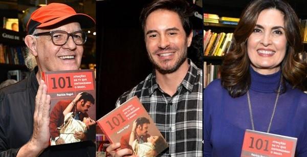 Ney Latorraca, Ricardo Tozzi e Fátima Bernardes também encararam a fila de autógrafos (Foto: Cristina Granato)