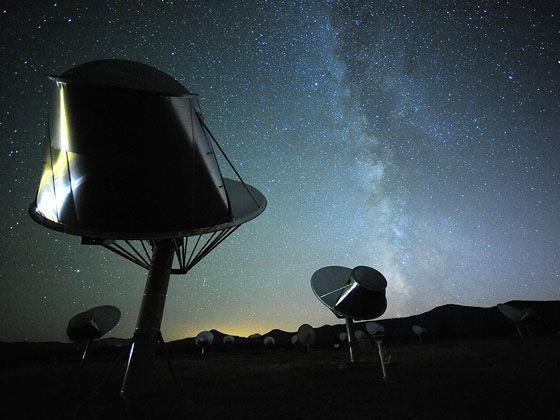 Alguns dos rdio-telescpios que formam o SETI (Foto: Divulgao)
