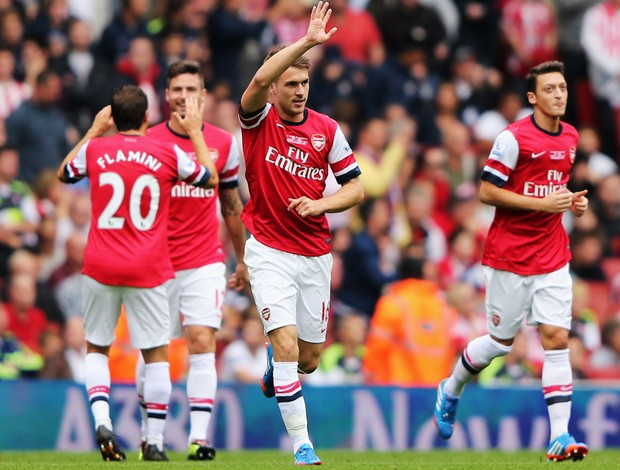 ramsey arsenal x stoke city (Foto: Getty Images)
