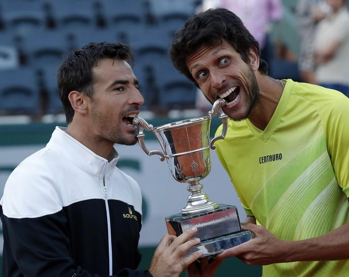 Marcelo Melo; Dodig; Roland Garros; 2015 (Foto: AP)