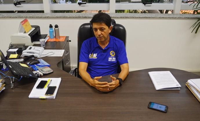 José Luis Nunes secretário de esportes São José dos Campos (Foto: Danilo Sardinha/GloboEsporte.com)