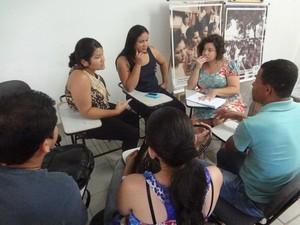 Reunião Caso Dezinho Belém (Foto: Natália Mello/G1)