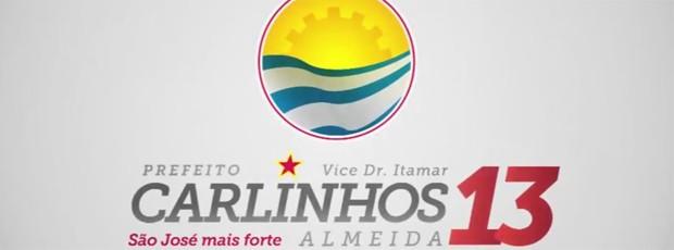 Em 2012, campanha de Carlinhos Almeida tinha estrela e número em vermelho em destaque (Foto: Reprodução)