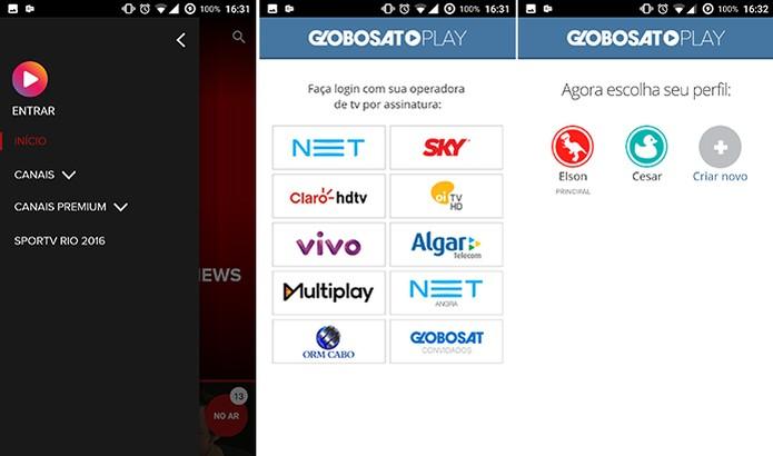 Globosat Play é vinculado à conta de TV por assinatura para liberar canais online (Foto: Reprodução/Elson de Souza) (Foto: Globosat Play é vinculado à conta de TV por assinatura para liberar canais online (Foto: Reprodução/Elson de Souza))