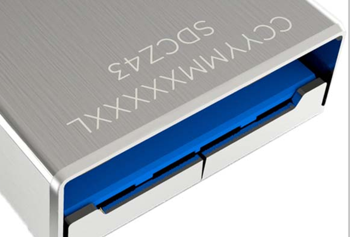 USB 3.0 tem entrada e cabo da cor azul, mas no Macbook não há essa diferença (Foto: Divulgação/Sandisk)