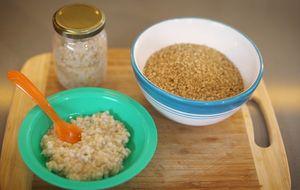 Papinha de arroz integral cateto