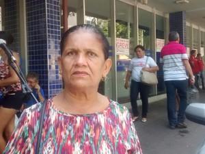Dona Maria do Carmo , funcionária pública (Foto: Juliana Barros/ G1)