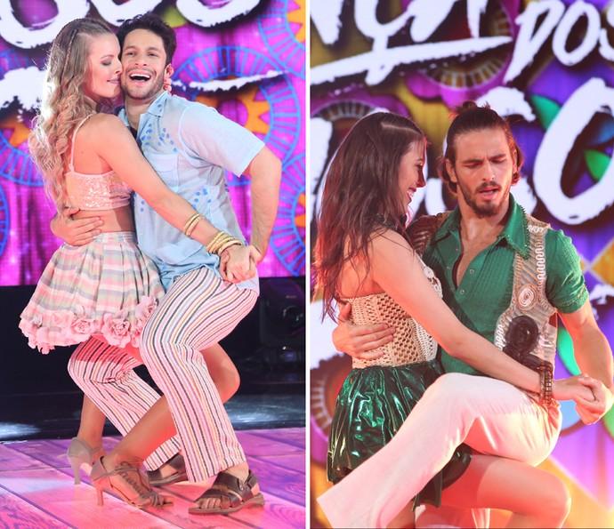Rainer e Brenno dançaram coladinho com suas professoras e fizeram bonito no palco (Foto: Carol Caminha/Gshow)