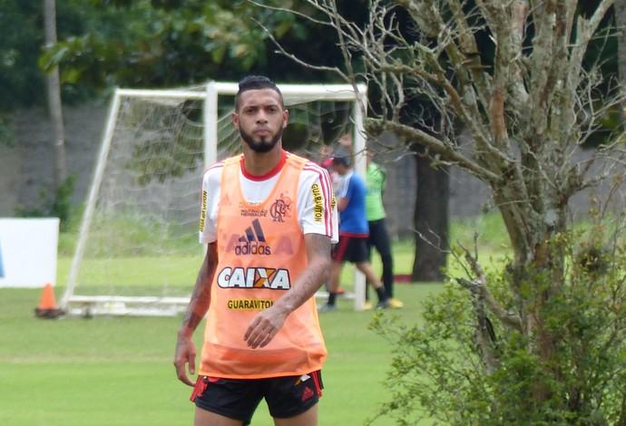 Paulinho treino Flamengo (Foto: Fred Gomes)