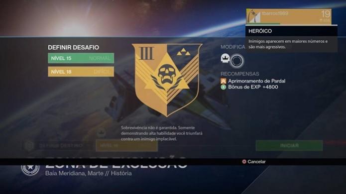 Jogar no modo heroico dá mais XP  (Foto: Reprodução/ Thiago Barros)