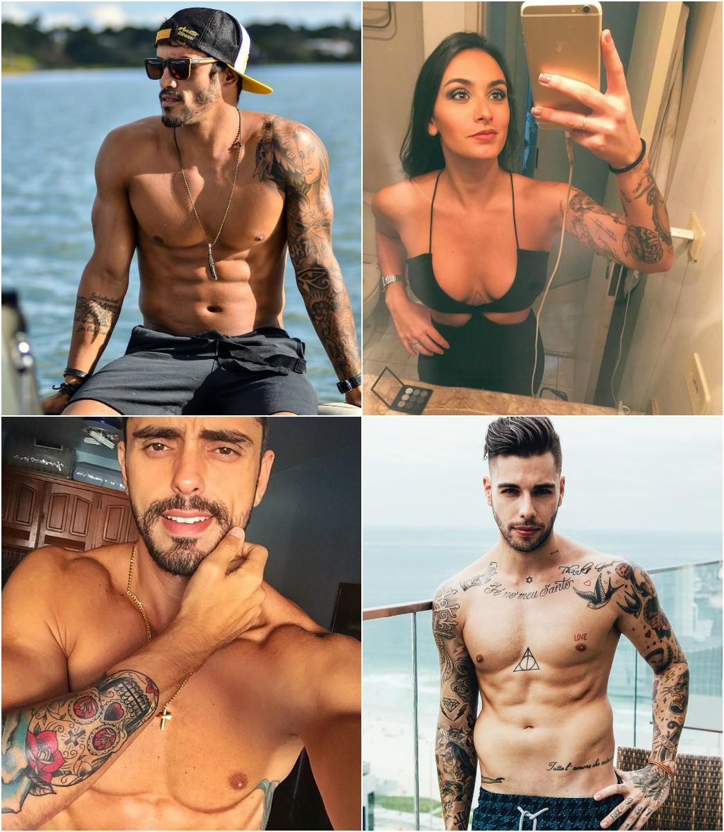 André, Anna Clara, Héric e Guilherme exibem tatuagens das redes sociais