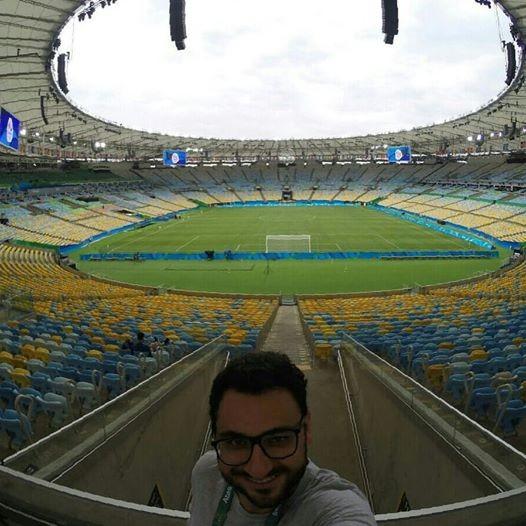 Madruga aproveitou a folga para acompanhar a final do futebol masculino (Foto: Diego Madruga/Arquivo pessoal)