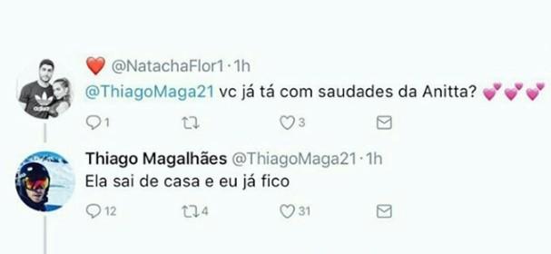 Thiago Magalhães no Twitter (Foto: Reprodução)