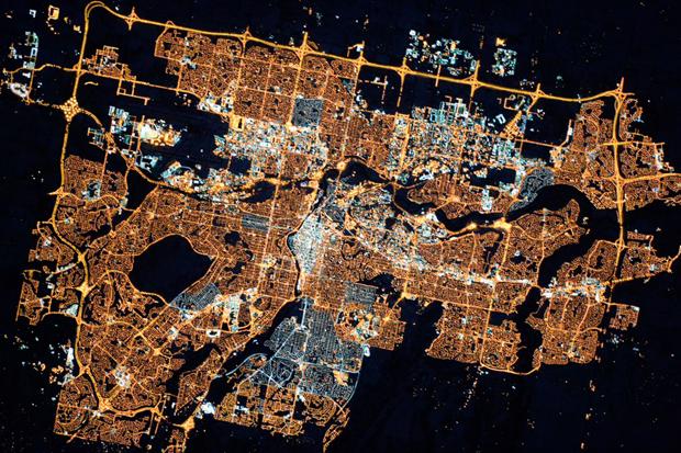 Astronauta da Estação Espacial Internacional clica cidade canadense (Foto: REUTERS/NASA/Scott Kelly/Handout)