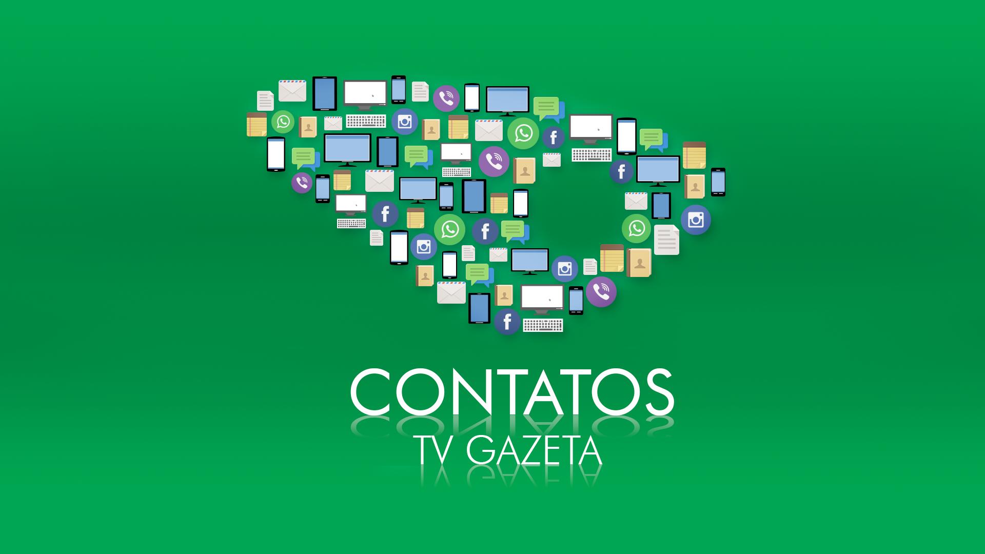 Contatos TV Gazeta (Foto: Divulgação/ TV Gazeta)