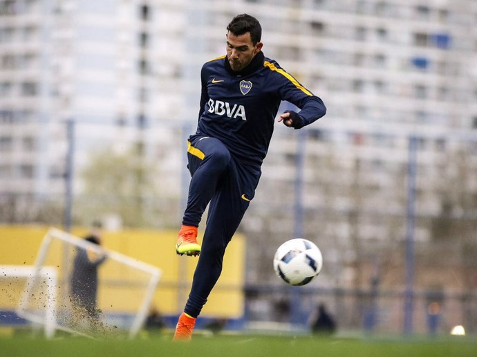 Tevez volta a treinar no Baca Juniors (Foto: Divulgação / Boca Juniors)