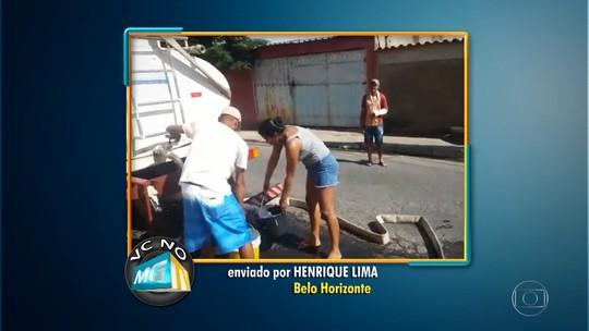 Moradores da Vila Santa Rita, em BH, estão sem água há mais de dez dias