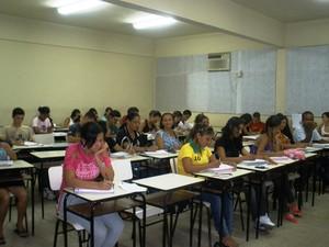 Estudantes da turma 2013 do curso Unifap Pré-Vestibular (Foto: Ascom/Unifap)