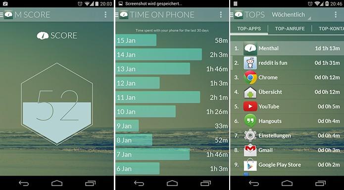 Menthal é um aplicativo para Android que monitora o tempo que usuário gasta no telefone (Foto: Divulgação/Play Store)