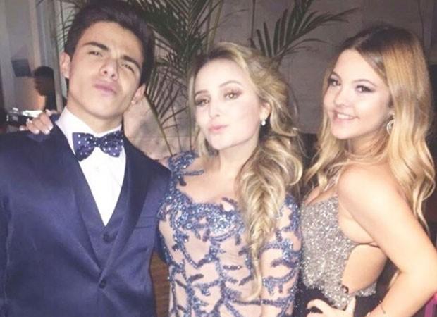 Thomaz Costa, Larissa Manoela e Júlia Gomes (Foto: Reprodução/Instagram)