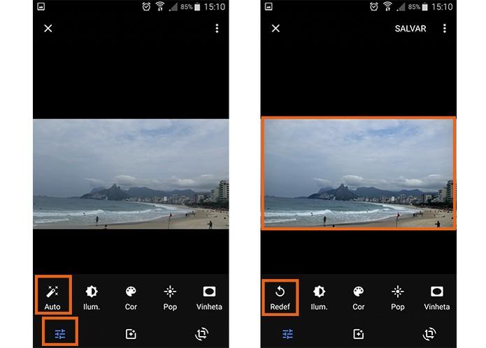 Ajuste automaticamente a imagem pelo Google Photos (Foto: Reprodução/Barbara Mannara)