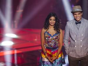 Lucy Alves e Marcos Lessa (Foto: Fabiano Battaglin / Tv Globo)