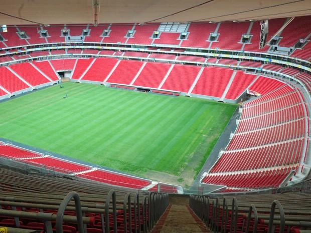 52fc23bd39 Vista interna do estádio Mané Garrincha