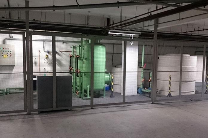Estação de tratamento de água de reúso no Hospital Bandeirantes, em São Paulo