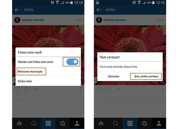 Instagram permite ocultar ou excluir marcações em fotos (Foto: Reprodução/Barbara Mannara)
