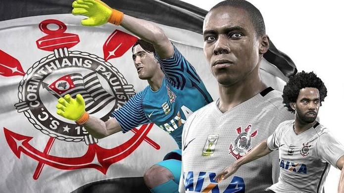 PES 2017 garante exclusividade do Corinthians e Flamengo no game (Foto: Divulgação/Konami)