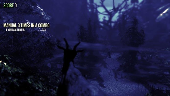 Fuja da Slender Goat para vencer o jogo (Foto: Divulgação/Steam)
