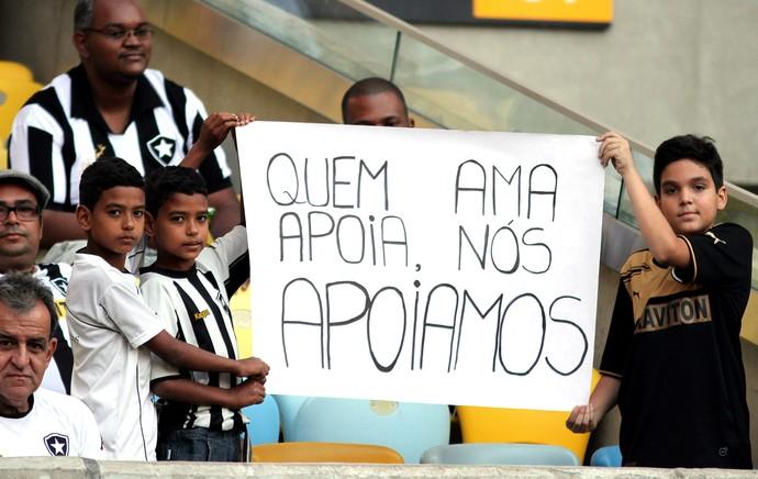 torcida botafogo Maracanã (Foto: Vitor Silva / SSpress)
