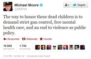 Tuíte de Michael Moore, autor e cinegrafista (Foto: Reprodução)