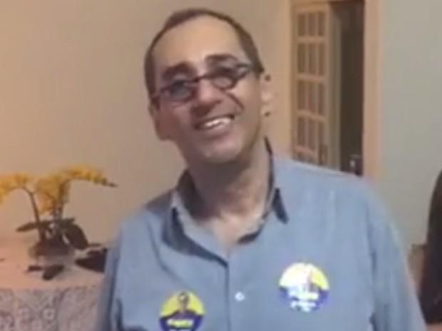 Jorge Kajuru agradece os votos nas redes sociais, em Goiânia, Goiás (Foto: Reprodução/Facebook)